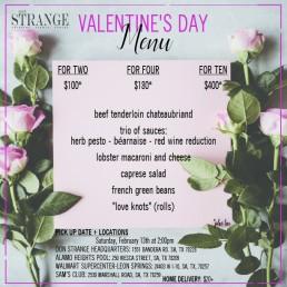 Valentine's Day Menu Page 1
